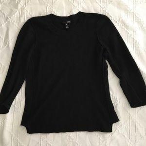 Aqua Black Cashmere Sweater